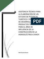 Asistencia Técnica para la elaboración de un estudio de potencial turístico y propuesta de desarrollo en el área de influencia de la hidroeléctrica Chixoy