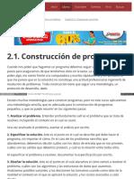 2.1. Construcción de Programas