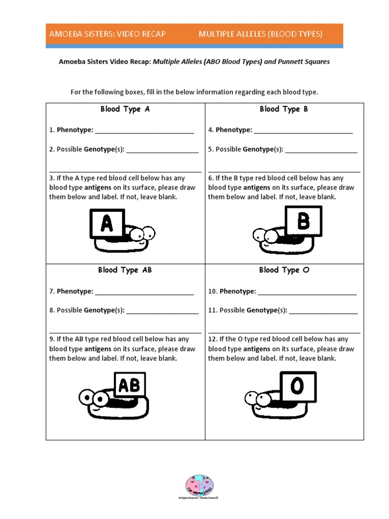All Grade Worksheets Blood Type And Inheritance Worksheet All – Multiple Allele Worksheet