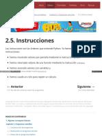 2.5. Instrucciones