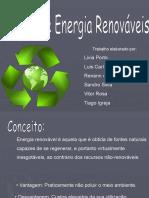 Fontes de Energia Renovaveis - GESTAO AMBIENTAL