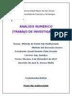 Metodo Punto Fijo Multivariable