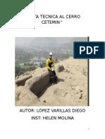Visita Tecnica Al Cerro Cetemin (1)