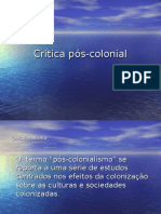 Teoria e Critica Pos-colonial