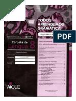 Carpeta de Lengua 8 - Cuadernillo de Gramática