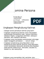 Pronomia Persona