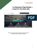 Elementor PDF Guide
