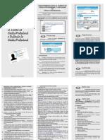 Triptico Procedimiento - Cedula Prof. Fed. y Duplicado