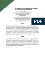 Desarrollo de Una Metodología Para Mejorar La Productividad Del Proceso de Elaboración de Tubos P