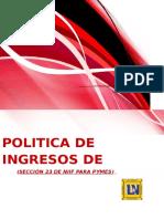 Seccion 23 de Niff Ingresos de Actividades Ordinarias-juan Carlos Diaz Rosas-edwin Nicolas Melo Tovar