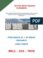 DISTRIBUTOR BATA RINGAN SURABAYA, HUB