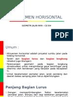ALINYEMEN HORISONTAL
