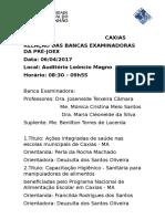 Bancas Pré JOEX