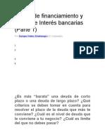 Plazos de Financiamiento y Tasas de Interés Bancarias