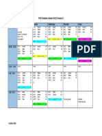 Timetable October 2016