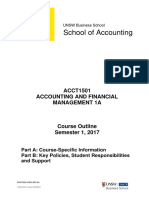 ACCT1501 Accounting and Financial Management S12017