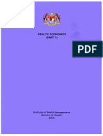 Health Economics Part 1