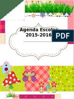 Agenda Curso 2015 2016. Motivo Tartanes ES