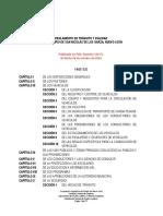 Reglamento de Transito y Vialidad de San Nicolas Nuevo Leon Mexioc