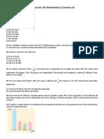 Exercícios de Matemática Comercial - CALIBRI