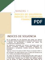 Exposicion Indices de Solvencia e Indices de Cobertura