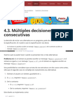 4.3. Múltiples Decisiones Consecutivas