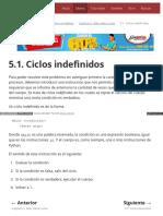 5.1. Ciclos Indefinidos