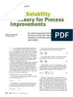 Apply Solubility Theory for Process Improvements
