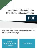 Human Interaction Creates Information