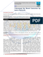 PV Based Load Resonant for Boost Converter by Using Quasi Z-Source Network