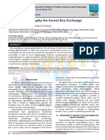 Neural Cryptography for Secret Key Exchange