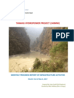 Progress Report of March for Infrastructure Activities of Tanahu Hydropower Project