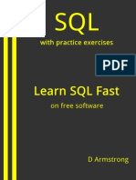 SQL With Practice Exercises, Learn SQL Fast, On Free Software - D Armstrong
