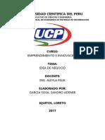 Universidad Cientifica Del Peru - Trabajo de Emprendimiento e Innovacion - i