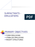 SURFACTANTS - EMULSIFIERS