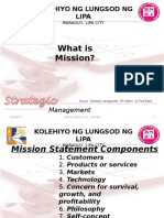 Strategic Management / Mission/