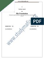 Civil Pile Foundation Report