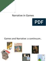 Narrative in Games