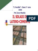 Il Solaio in Latero-Cemento