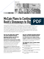 McCain Plans to Continue Bush's Giveaways to Big Oil