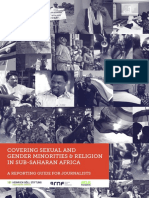 Covering Sexual and Gender Minorities & Religion in Sub-Saharan Africa