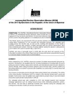 ANFREL Interim Report Myanmar 2017