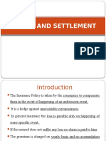 Claims and Settlement