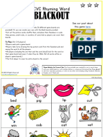 CVC Rhyming Word Blackout2