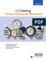 WIKA Product Catalog - Pressure and Temperature Measurement
