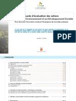 Guide d'évaluation des actions EEDD