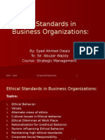 Ethical Standards in Business