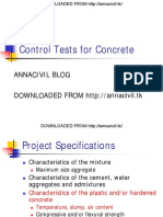 Control Tests for Concrete
