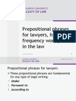 Prepositional Phrases for Lawyers