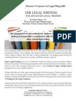 Scliess Better Legal Writing